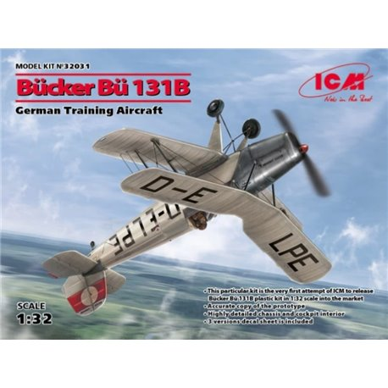 ICM 32031 1/32 Bücker Bu-131B German Training Aircraft