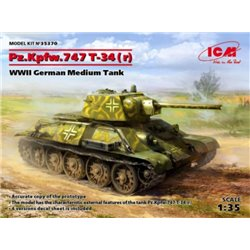 ICM 35370 1/35 Pz.Kpfw. T-34-747(r), WWII German Medium