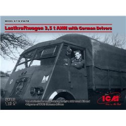 ICM 35418 1/35 Lastkraftwagen 3.5 t AHN with German Drivers