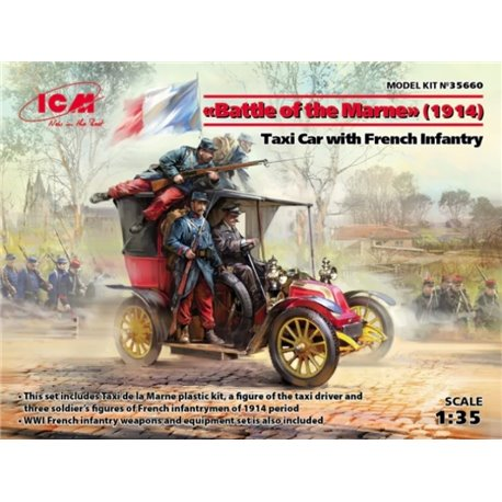 ICM 35660 1/35 Taxi Car w/French Infantry Battle of the Marne 1914