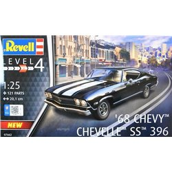REVELL 07662 1/25 1968 Chevy Chevelle