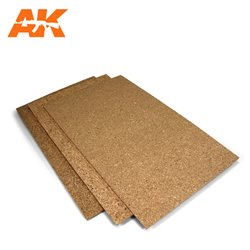 AK INTERACTIVE AK8046 CORK SHEET – FINE GRAINED 200X300X1MM