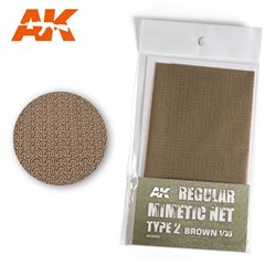 AK INTERACTIVE AK8062 CAMOUFLAGE NET BROWN TYPE 2