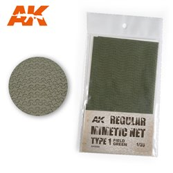 AK INTERACTIVE AK8066 CAMOUFLAGE NET FIELD GREEN TYPE 1