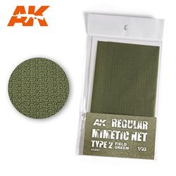 AK INTERACTIVE AK8067 CAMOUFLAGE NET FIELD GREEN TYPE 2