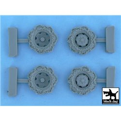 BLACK DOG T48057 1/48 Steyr Type 1500A/01 snowchained wheels set for Tamiya kits