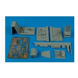 AIRES 2103 1/32 Bf 109E-1 cockpit set for Eduard