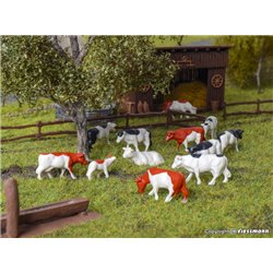 KIBRI 38152 HO 1/87 Deco-set Vaches - Cows, 12 pieces