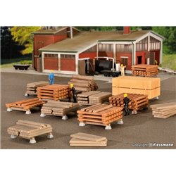 KIBRI 38607 HO 1/87 Deco-set Scierie - Sawn timber