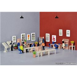 KIBRI 38655 HO 1/87 Deco-set Bureaux Architecte - Office furniture