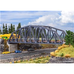 KIBRI 39700 HO 1/87 Pont en Acier Simple Voie - Steel arch bridge, single track