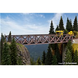 KIBRI 39702 HO 1/87 Framework steel bridge, single track