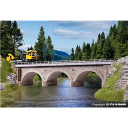 KIBRI 39721 HO 1/87 Stone arch bridge Single track