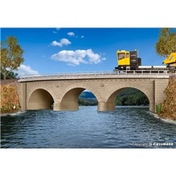 KIBRI 39722 HO 1/87 Stone arch bridge curved, single track