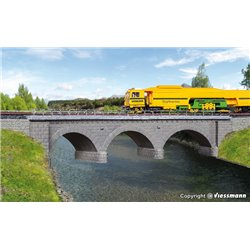 KIBRI 39723 HO 1/87 Stone arch bridge Curved Single Track