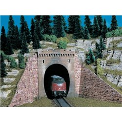 KIBRI 42501 HO 1/87 Portail de Tunnel Simple Voie - Tunnel portal 2 pcs