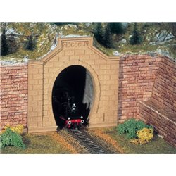 KIBRI 42504 HO 1/87 Portail de Tunnel Simple Voie - Tunnel Portal 2pcs