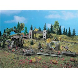 VOLLMER 43668 HO 1/87 Deco-set Parc Aventure - Adventure-playground