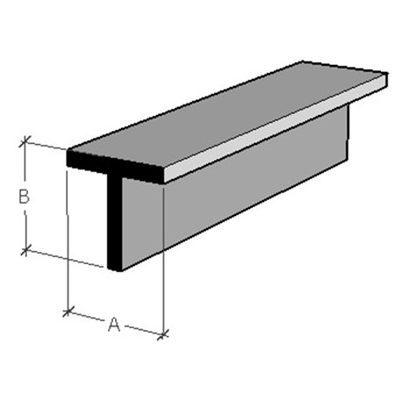EVERGREEN EG764 Styrene T 2,3 x 2,3 x 350 mm (4p.)