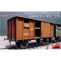 "MINIART 35288 1/35 RAILWAY COVERED GOODS WAGON 18t ""NTV"" TYPE"
