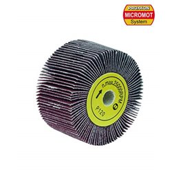PROXXON 28562 Grinding mop cylinder for cylinder sanders for WAS/A, 120 grit, 2 pcs