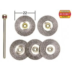 PROXXON 28952 Steel brushes, cups and wheels