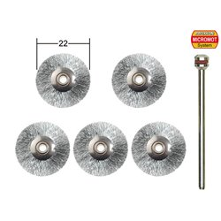 PROXXON 28956 Stainless steel brushes, cups and wheels