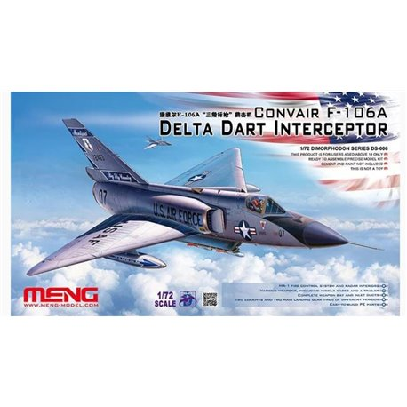 MENG DS-006 1/72 Convair F-106A Delta Dart Interceptor