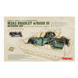 MENG SPS-017 1/35 U.S. Fighting Vehicle M3A3 Bradley w/BUSK III Interior Set