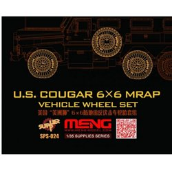 MENG SPS-024 1/35 U.S. Cougar 6x6 MRAP Vehicle Wheel Set