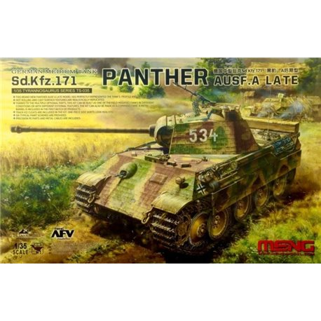 MENG TS-035 1/35 German Medium Tank Sd.Kfz.171 Panther Ausf. A Late
