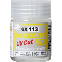 GUNZE GX-113 Mr Color GX Super Clear III UV Cut Flat 18ml
