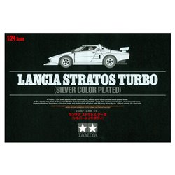 TAMIYA 25418 1/24 Lancia Stratos Turbo (Silver Color Plated)