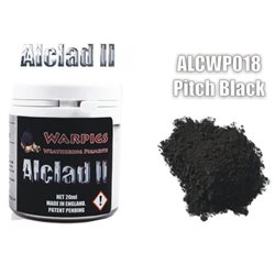 ALCLAD II Lacquers ALCWP018 Weathering Pigments Warpigs Pitch Black 20ml
