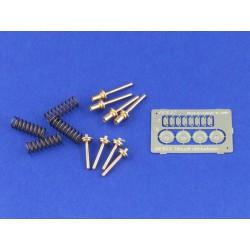 FALLER 180971 HO 1/87 10 Aluminium beer barrels