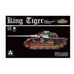 TAKOM 2046s 1/35 Sd.Kfz.182 King Tiger Porsche Turret w/Zimmerit