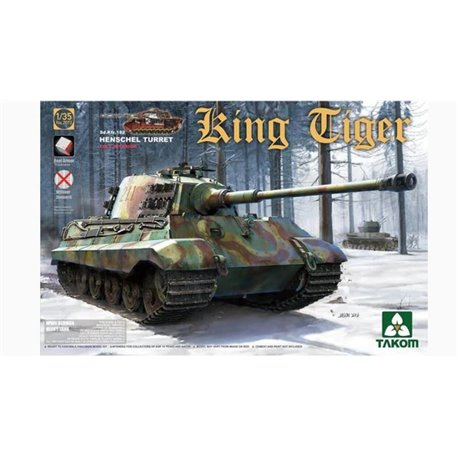 TAKOM 2073s 1/35 Sd.Kfz.182 King Tiger Henschel Turret w/New Track Parts