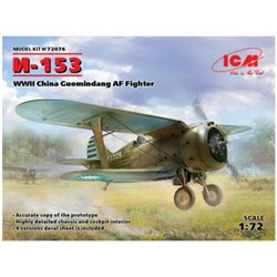 ICM 72076 1/72 I-153 WWII China Guomindang AF Fighter
