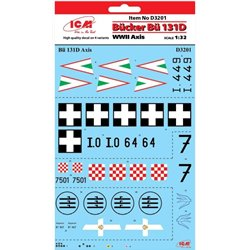 ICM D3201 1/32 Bücker Bü 131D Axis WWII Decal Sheet