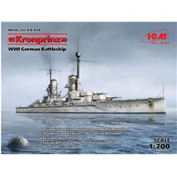 ICM S016 1/700 WWI German Battleship Kronprinz (Full Hull OR Waterline)