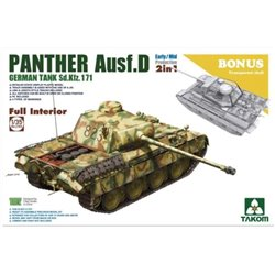 TAKOM 2103 1/35 Panther Ausf. D 2in1 Mid/Early Full Interior Kit*