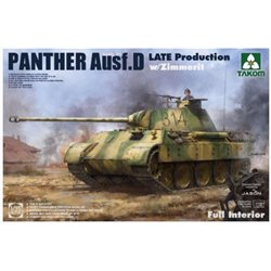 TAKOM 2104 1/35 Panther Ausf. D Late Production w/ Zimmerit Full Interior Kit