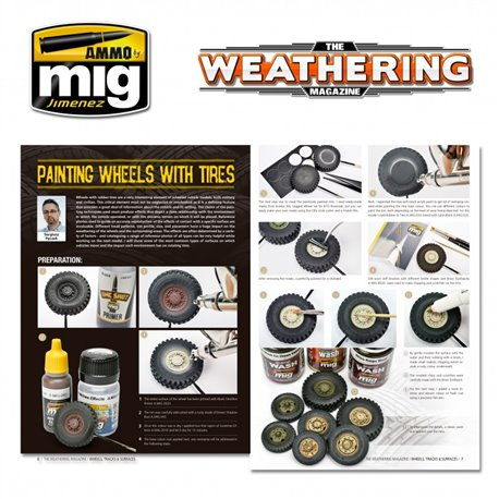 AMMO BY MIG A.MIG-4524 Weathering Magazine 25 Wheels Tracks Surfaces Eng