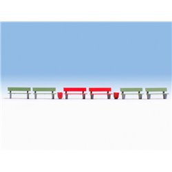 NOCH 14848 HO 1/87 Benches