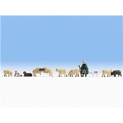 NOCH 45750 TT 1/120 Shepherd and Sheep