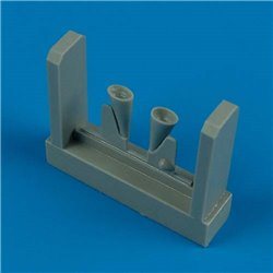 Quick Boost QB 48 350 1/48 MC.200 Saetta exhaust for Italeri