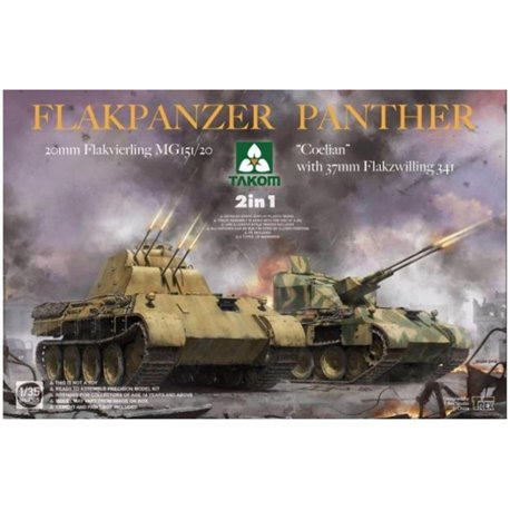 TAKOM 2105 1/35 Flakpanzer Panther 2 in 1