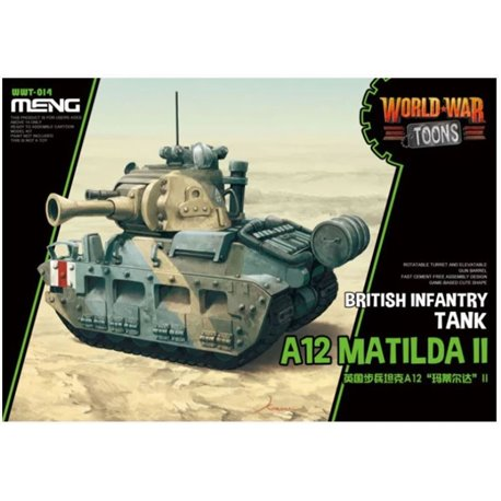 MENG WWT-014 Egg World War Toons A12 Matilda II British Infantry Tank