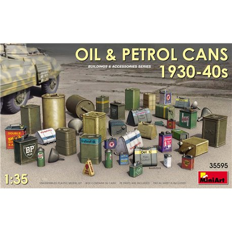 MINIART 35595 1/35 Oil & Petrol Cans 1930s-1940s