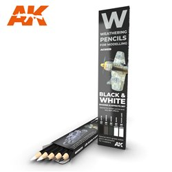 AK INTERACTIVE AK10039 WATERCOLOR PENCIL SET BLACK AND WHITE